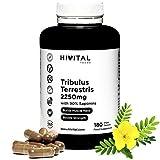 Tribulus Terrestris 2250 mg   180 vegane Kapseln   100% natürlich mit 90% Saponinen  ...