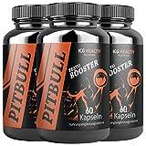 Pitbull Testo Booster – Pre Workout Booster Muskelaufbau (3 Dosen je 60 Kapseln) –...